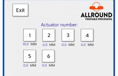 Radial grader screen adjustment 1